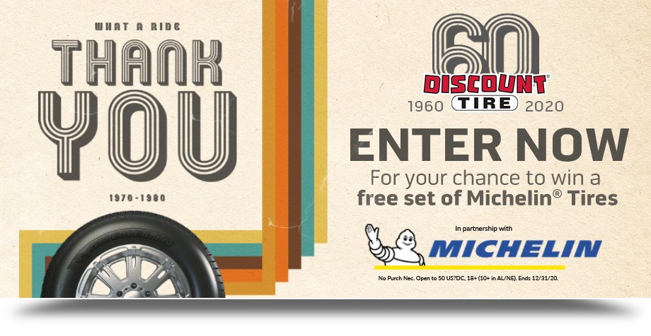 Discount Tire 60 Years Sweepstakes