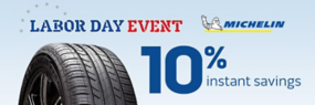 10% Instant Savings on Michelin!