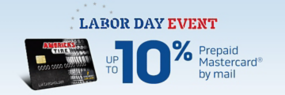 Up to 10% rebate by mail when you use your America's Tire credit card