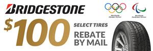 $100 Bridgestone Tire Rebate