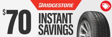 $70 Instant Savings on Bridgestone
