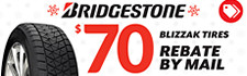 $70 Bridgestone Blizzak Rebate