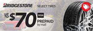Up to $70 Bridgestone Rebate
