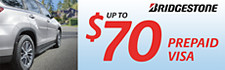 Up to $70 Bridgestone Rebate
