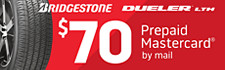 $70 Bridgestone Dueler LTH Rebate