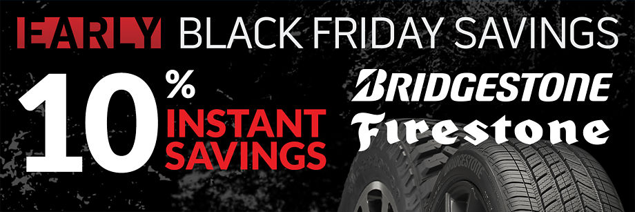 10% Instant Savings on Bridgestone and Firestone
