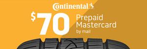 $70 Continental Rebate