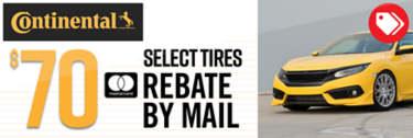 Continental Rebate (select tires)