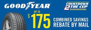 Goodyear Countdown to the Cup Sweepstakes and Savings