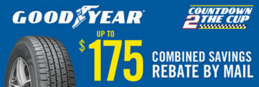 Goodyear Countdown to the Cup Sweepstakes and exclusive tire savings