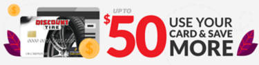 Up to $50 Discount Tire credit card rebate