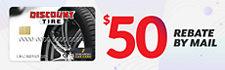 $50 Credit Card Rebate (set of four)