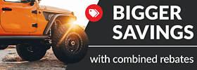 Bigger savings with combined rebates!