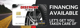Discount Tire credit card financing available - Let's get you taken care of