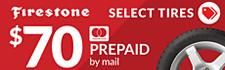 $70 Firestone Rebate