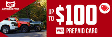 Up to $100 General Tire Rebate