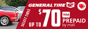 Up to $70 General Tire Rebate