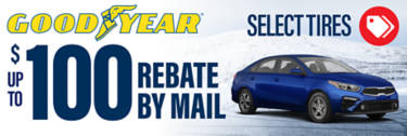 Goodyear up to $100 Rebate