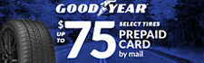 Up to $75 Goodyear Rebate (select lines)
