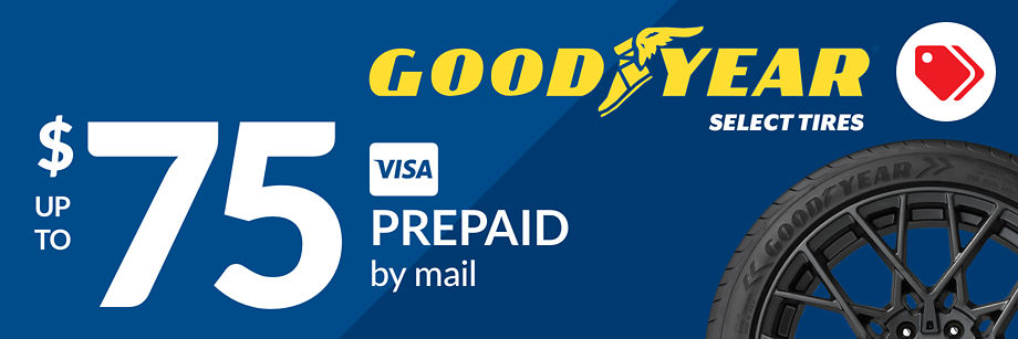 Up to $75 Goodyear Rebate