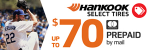 Up to $70 Hankook Rebate