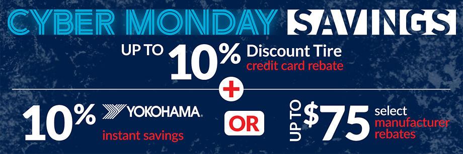 Cyber Monday Tire Savings!