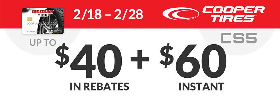 $60 Instant Savings on Cooper CS5