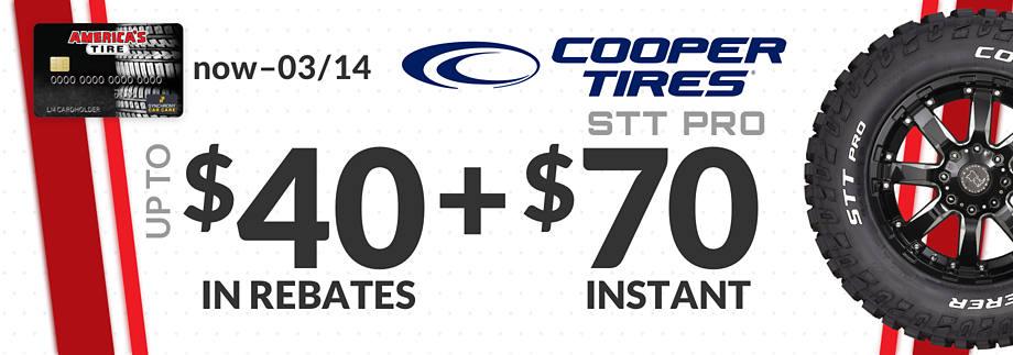 $70 Instant Savings on Cooper Discoverer STT Pro