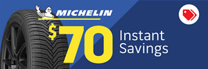 $70 Instant Savings on Michelin