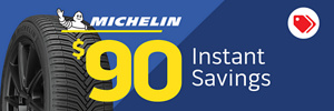 $90 Instant Savings on Michelin