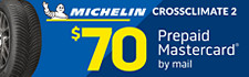 $70 Michelin CrossClimate 2 Rebate