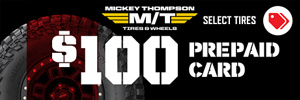 $100 Mickey Thompson Rebate