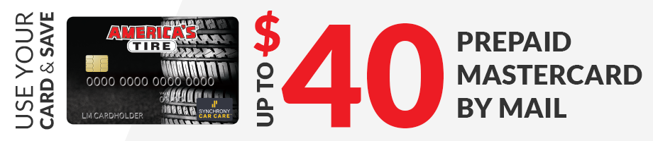 Up to $40 America's Tire credit card rebate