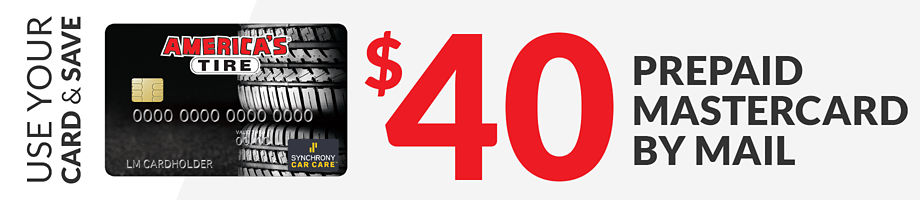 Up to $40 America's Tire credit card purchase rebate