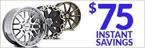 $75 Instant Savings on Select Wheels
