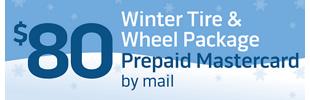 $80 Winter Tire and Wheel Package Rebate