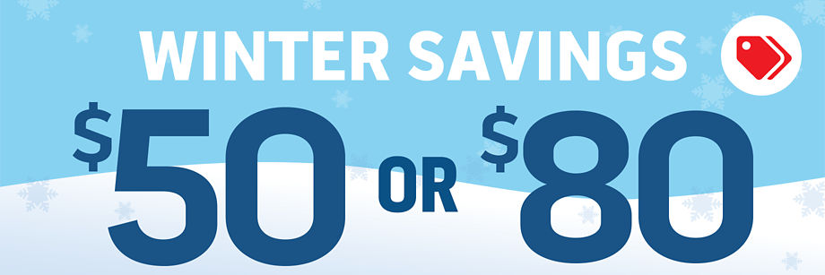 Winter Savings ... up to $80!