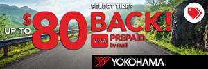 Up to $80 Yokohama Rebate