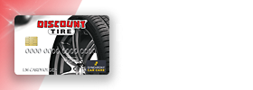 Discount Tire credit card financing available